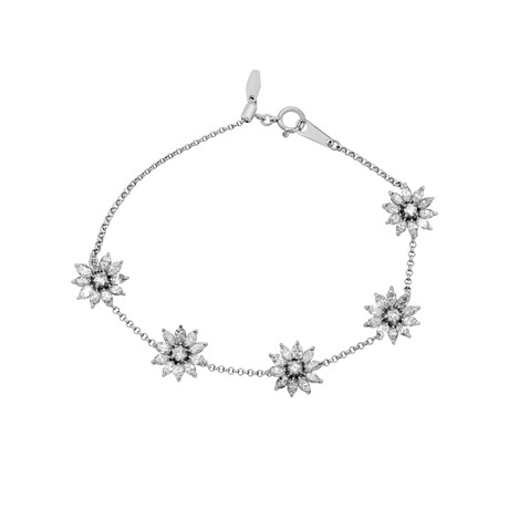 "Estate 18k White Gold Diamond Bracelet // 7"" // Pre-Owned"
