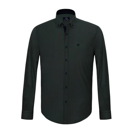 Jax Shirt // Green + Navy (S)