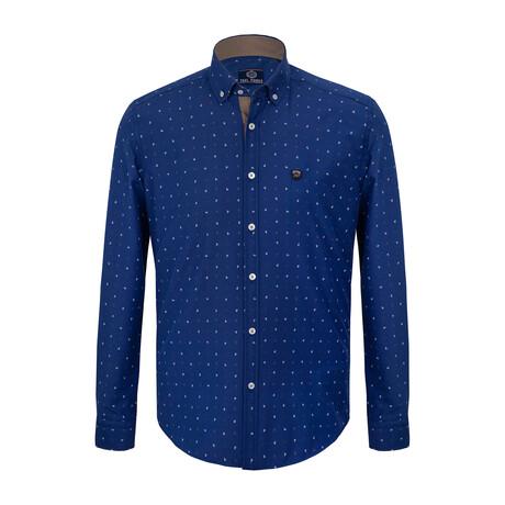Kurt Button Down Shirt // Sax (S)