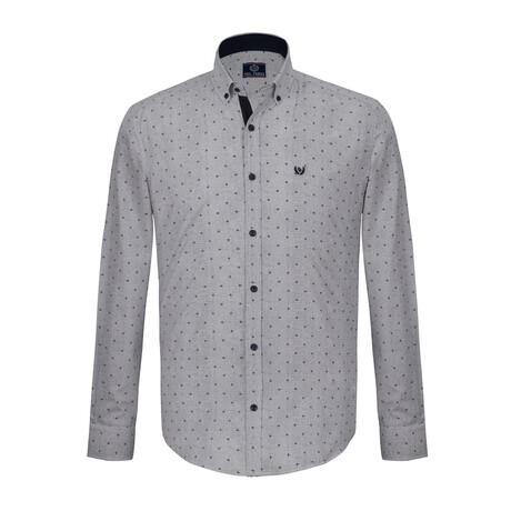 Bruce Shirt // White + Gray (S)