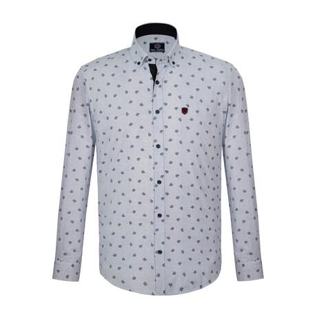 Harden Shirt // White + Navy (S)