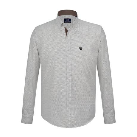 Harry Shirt // Navy + White (S)