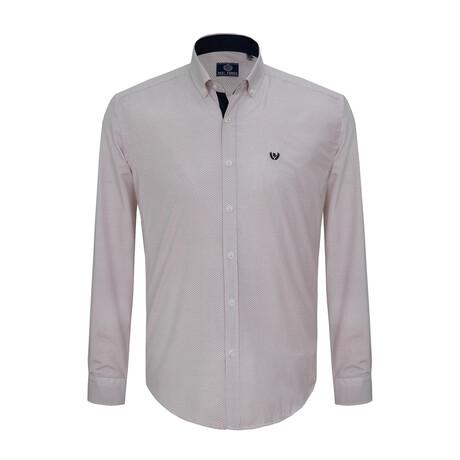 Cosmo Shirt // Brown + Ecru (S)