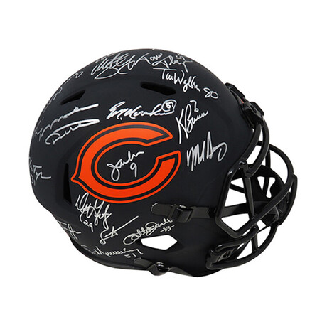 1985 Chiacgo Bears // Team Signed Riddell Full Size Replica Helmet // Limited Edition 1 of 34 // 28 Signatures