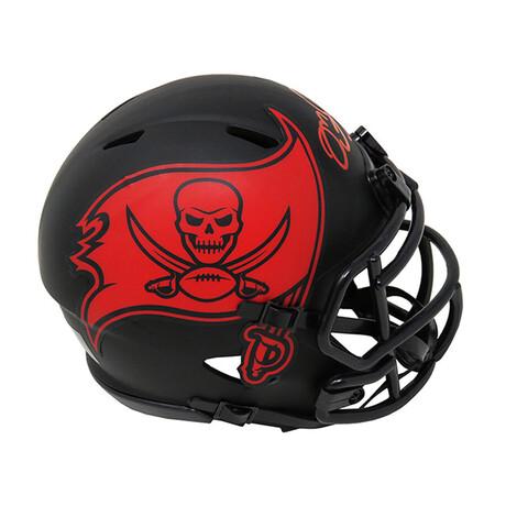 Mike Alstott // Signed Buccaneers Eclipse Riddell Speed Mini Helmet // Red Ink