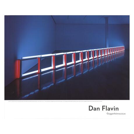 Dan Flavin // Artificial Barrier Blue, Red & Blue Fluorescent Light (To Flavin Starbuck Judd) // 2006 Offset Lithograph