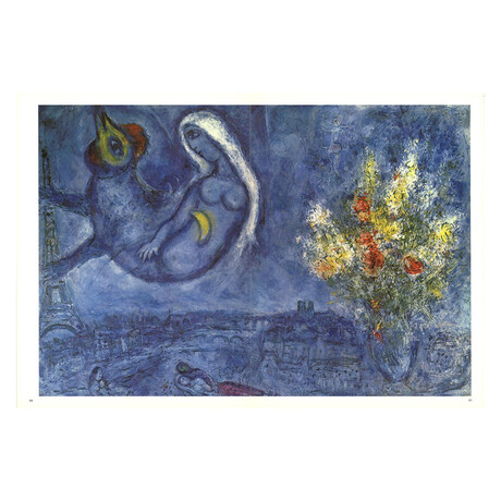 DLM No. 182 Pages 20,21 // Marc Chagall // 1969 Offset Lithograph