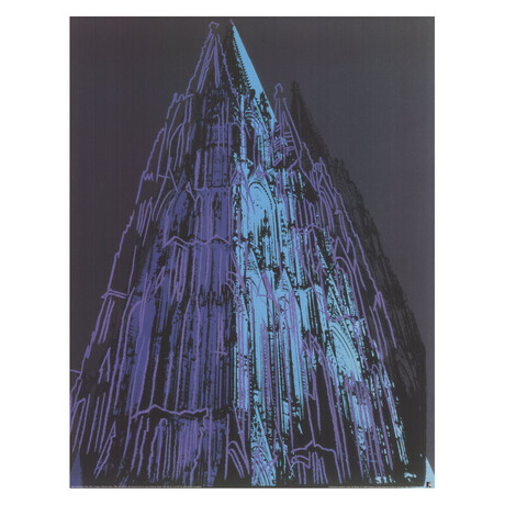 Andy Warhol // Koln Cathedral Blue // Offset Lithograph