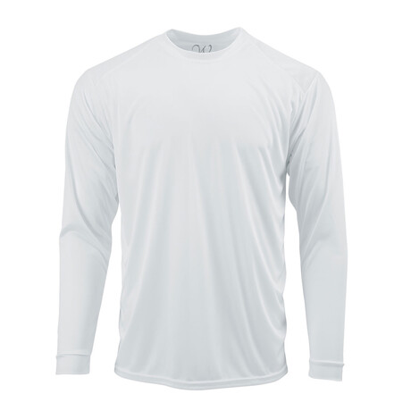 Perform Basics Dri-Tech Long Sleeve T-Shirt // White (S)