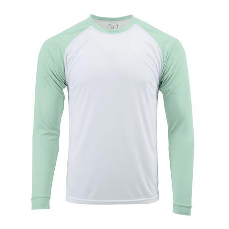 Perform Basics Dri-Tech Raglan Contrast Long Sleeve T-Shirt // Mint (S)