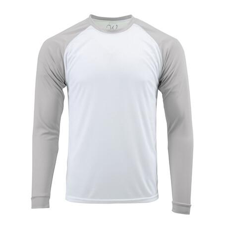 Perform Basics Dri-Tech Raglan Contrast Long Sleeve T-Shirt // Gray (S)