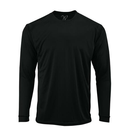 Perform Basics Dri-Tech Long Sleeve T-Shirt // Black (S)