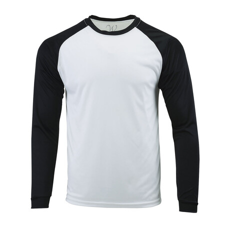 Perform Basics Dri-Tech Raglan Contrast Long Sleeve T-Shirt // Black (S)