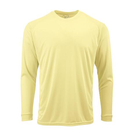 Perform Basics Dri-Tech Long Sleeve T-Shirt // Light Yellow (S)