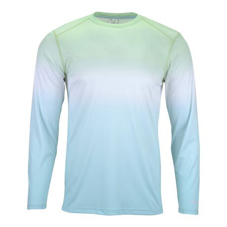 Perform Basics Dri-Tech Tri-Color Long Sleeve T-Shirt // Mint (S)