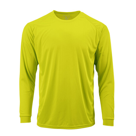 Perform Basics Dri-Tech Long Sleeve T-Shirt // Neon Yellow (S)