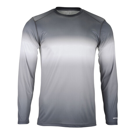 Perform Basics Dri-Tech Tri-Color Long Sleeve T-Shirt // Black (S)