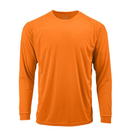Perform Basics Dri-Tech Long Sleeve T-Shirt // Orange (S)