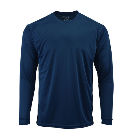 Perform Basics Dri-Tech Long Sleeve T-Shirt // Navy (S)