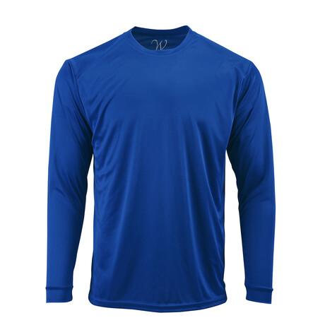 Perform Basics Dri-Tech Long Sleeve T-Shirt // Royal Blue (S)