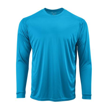 Perform Basics Dri-Tech Long Sleeve T-Shirt // Turquoise (S)