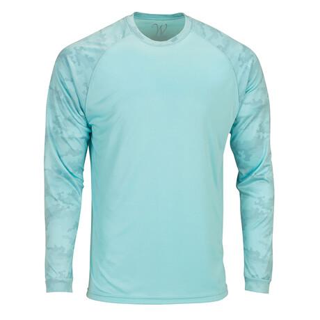 Perform Basics Dri-Tech Raglan Contrast Camo Long Sleeve T-Shirt // Mint (S)