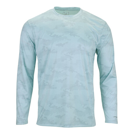 Perform Basics Dri-Tech Camo Long Sleeve T-Shirt // Aqua (S)