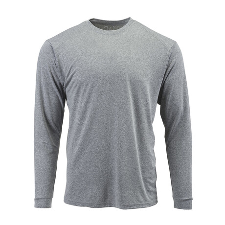 Perform Basics Dri-Tech Long Sleeve T-Shirt // Heather Gray (S)