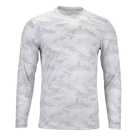 Perform Basics Dri-Tech Camo Long Sleeve T-Shirt // White (S)