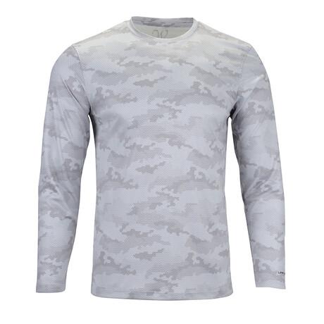 Perform Basics Dri-Tech Camo Long Sleeve T-Shirt // Gray (S)