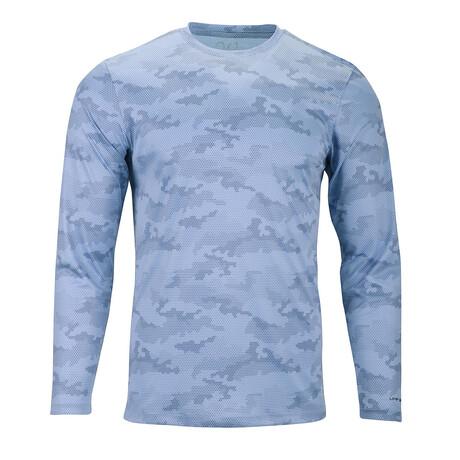 Perform Basics Dri-Tech Camo Long Sleeve T-Shirt // Light Blue (S)