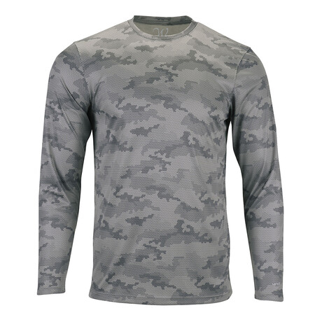 Perform Basics Dri-Tech Camo Long Sleeve T-Shirt // Heavy Metal (S)