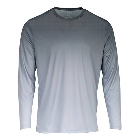 Perform Basics Dri-Tech Fade Long Sleeve T-Shirt // Heavy Metal (S)