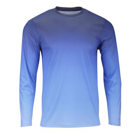 Perform Basics Dri-Tech Fade Long Sleeve T-Shirt // Royal Blue (S)