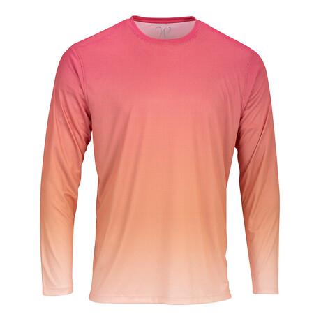 Perform Basics Dri-Tech Fade Long Sleeve T-Shirt // Coral (S)