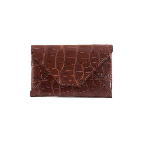 Bryant Park // Genuine Alligator Envelope Wallet (Black)