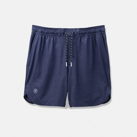 "Luka Hd 7"" Linerless Shorts // Navy (S)"