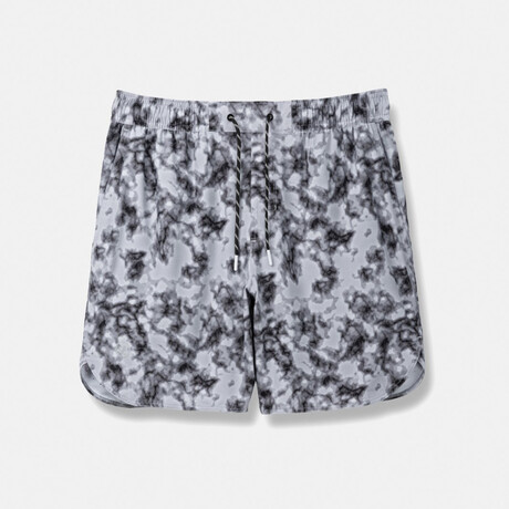 """Luka 7"""" Linerless Shorts // Carbon Marble (S)"""
