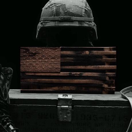 Bourbon Barrel American Flag Décor // The Lieutenant