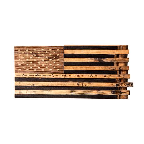 Bourbon Barrel American Flag Décor // AMERICA ONE HEARTBEAT The Lieutenant