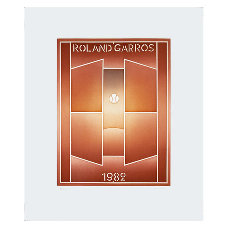 Roland Garros, French Open // Jean-Michel Folon // 1982 Signed Etching
