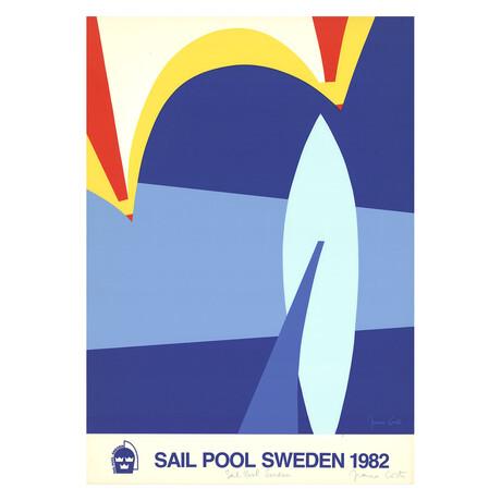Sail Pool Sweden // Franco Costa // 1982 Signed Serigraph