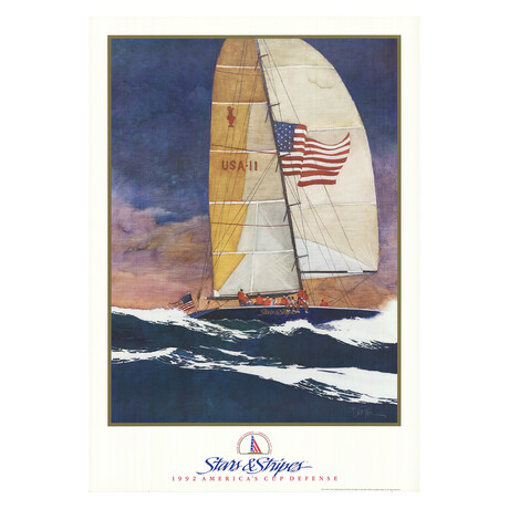 Stars & Stripes // Bart Forbes // 1991 Lithograph