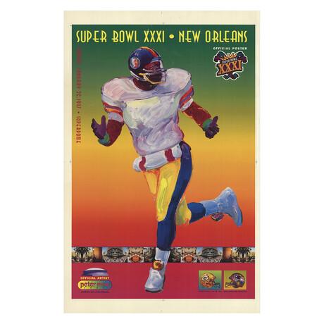 Super Bowl XXXI // Peter Max // 1997 Lithograph
