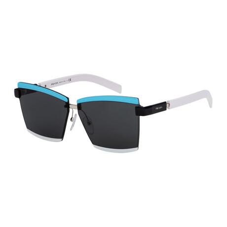 Women's PR61XS-02B5S066 Sunglasses // Blue + Black + White + Gray