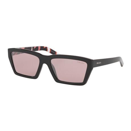 Women's PR04VSF-57621459 Sunglasses // Black + Violet