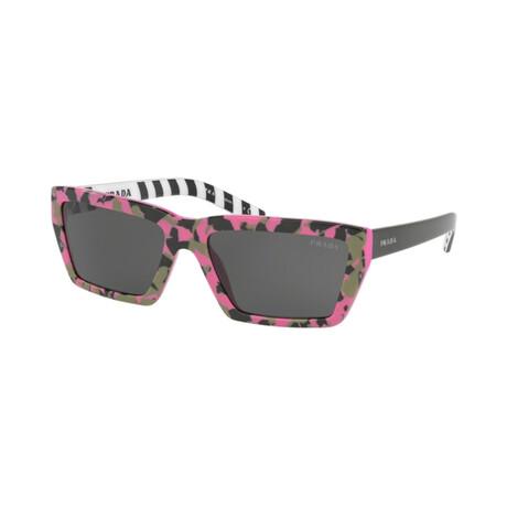 Women's PR04VSF-4625S059 Sunglasses // Camouflage Pink + Black