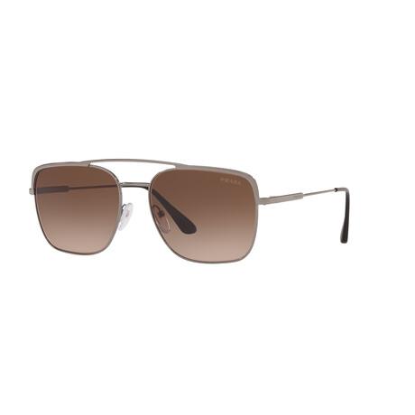 Prada // Men's PR53VS-5AV6S159 Sunglasses // Gunmetal + Brown Gradient