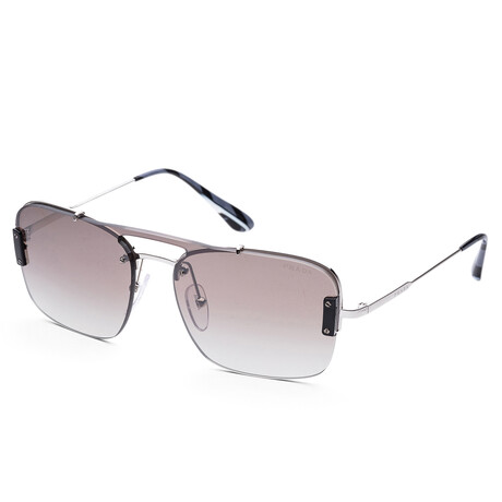 Prada // Men's PR56VS-1BC4S133 Sunglasses // Silver + Gradient Gray