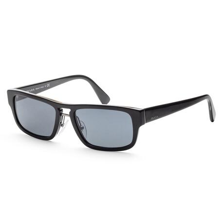 Prada // Men's PR05VS-1AB0A956 Sunglasses // Black + Blue